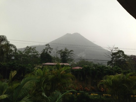 The Royal Corin Thermal Water Spa & Resort: View of Arenal from balconey one foggy morning