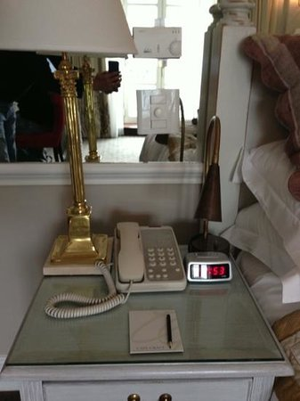 Cape Grace: is that phone antique? no, it's just old... and digital clock is kind that you find in some barg
