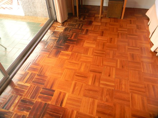 Kantary Bay, Phuket: Badly marked flooring in our bedroom