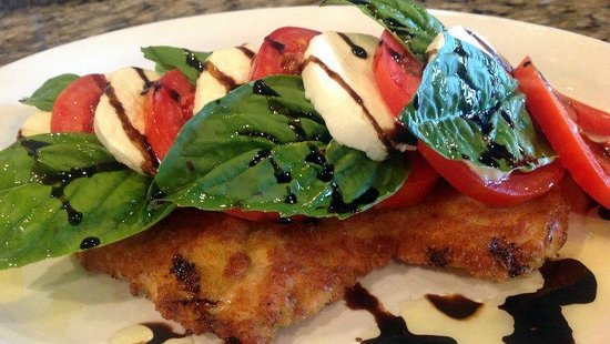 Rosedale Brick Oven: Chicken Milanese topped with a Caprese Salad