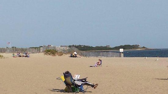 Craigville Beach: view towards hyannis