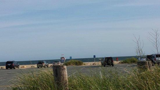 Craigville Beach: view 4m parking lot towards beach