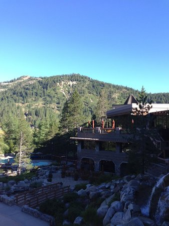 Resort at Squaw Creek: View from outside lobby walking toward room
