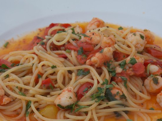 Casa Morgano: Amazing spaghetti with shrimps