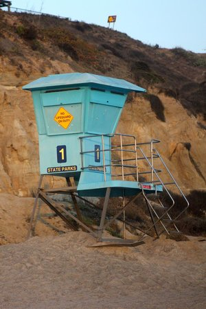 San Clemente State Beach: Lifeguards are on the beach (at least in July)