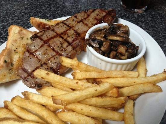 Outskirts Family Steakhouse: Steak Sandwich lunch special, couldn't believe it was just $6.50