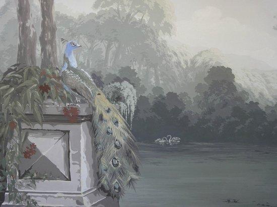 Palazzo Righini: Detail van wandschildering bij Salla della feste