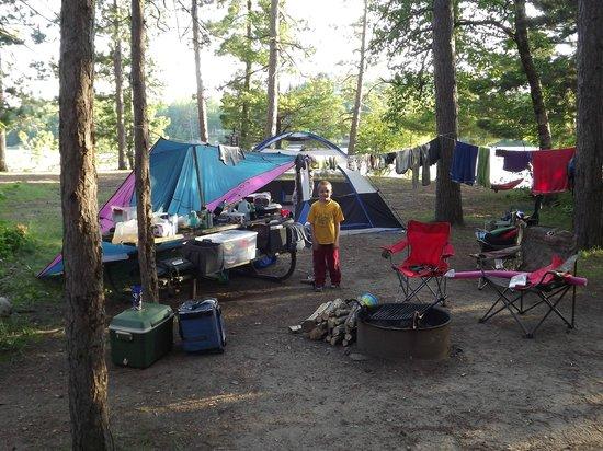 Side Lake, MN: Nice spacious campsites