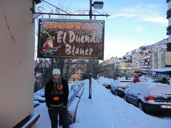 Hostal El Duende Blanco: cartel helado