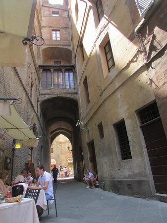 Ristorante Il Sasso: Street view from Il Sasso outdoor table