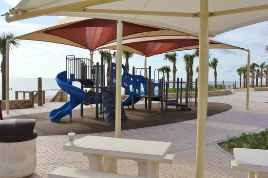 Andy Romano Beachfront Park : Slide and Monkey Bars