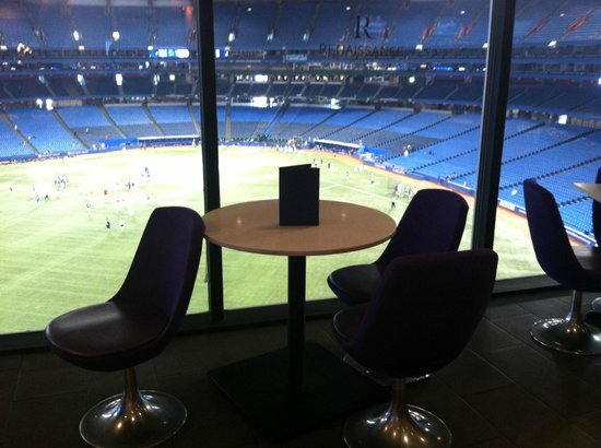 Toronto Marriott City Centre Hotel View Of Bluejays Field From Restaurant