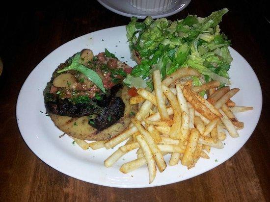 Native Foods Cafe : Portobello & Sausage Burger
