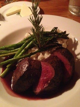 Buck's T-4 Restaurant: Red Deer with Truffle Risotto