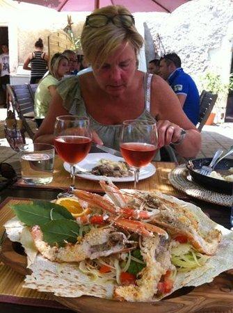 Villa Smeralda: heerlijke langoustines salade!