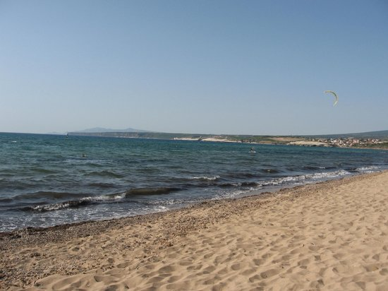 Is Arenas Camping Village: Spiaggia, lato nord
