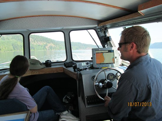 Adventure Quest Tours Canada Inc- Day Tours: Leigh at the helm