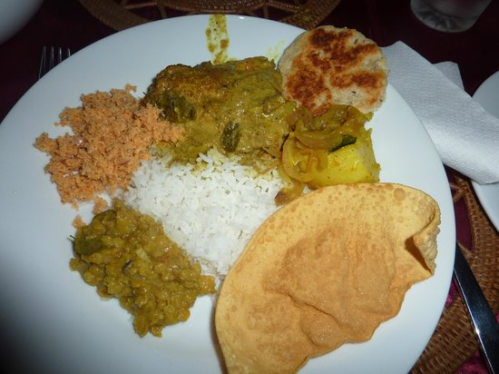 Sri Lancashire Guest House: Perfect curry!!!