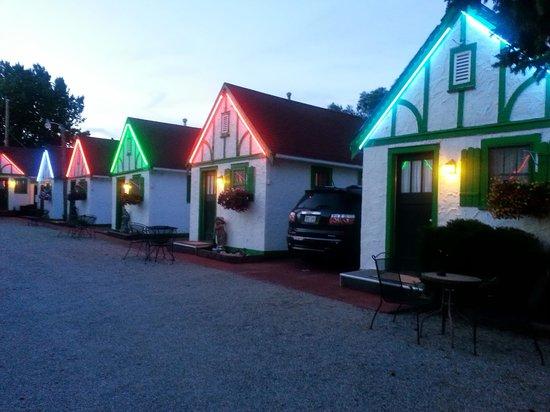 Chalet Motel at Night