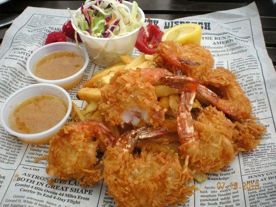 Bubba Gump Shrimp Co.: Scrumptious - Dumb Luck Coconut Shrimp - delicious sauce...