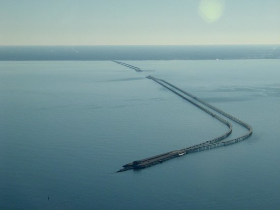 Cape Charles, VA: Chesapeake Bay Bridge-Tunnel spans across the Chesapeake Bay