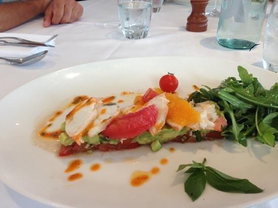 Bistrot des anges: suggestion de pêche local salade de langouste 38€