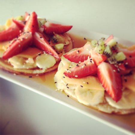 Surla: Our famous-liciuos fruit-pancakes!