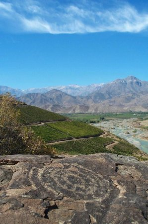 Los Andes, Chili: Vista desde la cima y hacia el Valle de Aconcagua