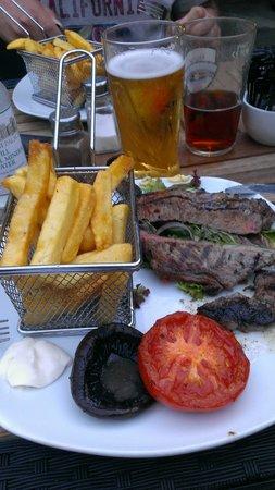 The Star Inn: sirlion steak dinner...gorgeous!!