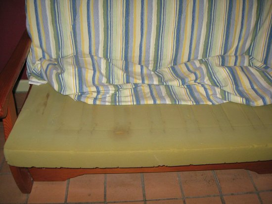 El Cardonal Apartments: stained Sofa 'bed'