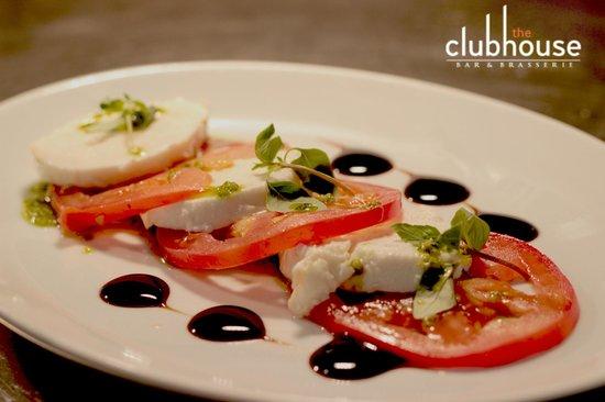 The Clubhouse: Delicious mozzarella and tomato salad with pesto verde