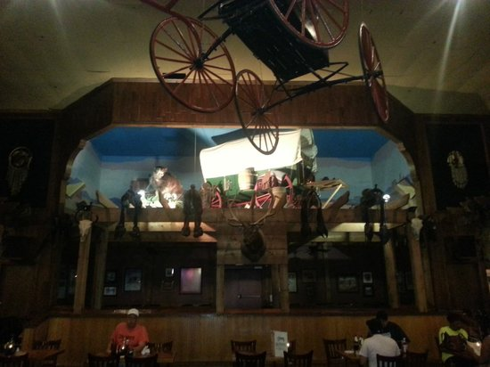 Décor Along One Of The Walls Picture Of Cimarron Steak House