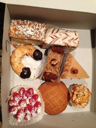 Scandia Bakery & Coffee Shop: All this for $24.  We loved the almond horn.