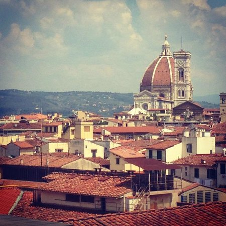 The Westin Excelsior Florence: City view from our 5th Floor guest room...