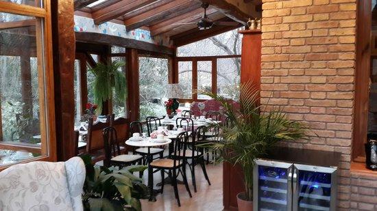 Casa Glebinias: area de desayuno