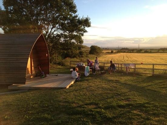 Hilly Cow Wigwams: corner wigwam