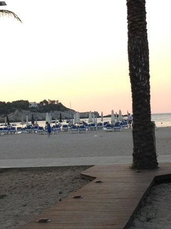 Port de Sant Miguel, İspanya: beach at sunset