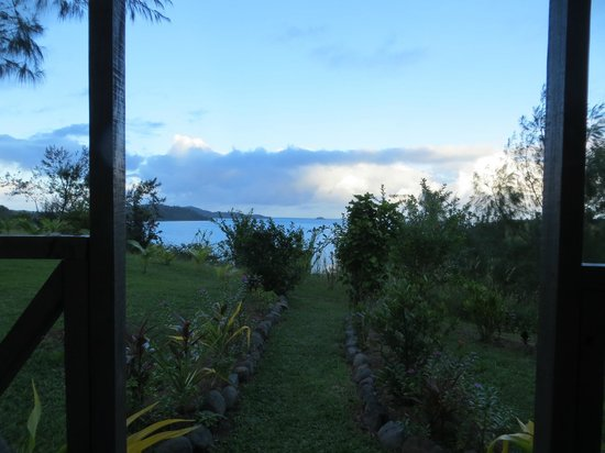 Bay of Plenty Lodge: view from bure