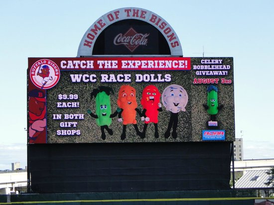 Coca-Cola Field: Scoreboard in Outfield