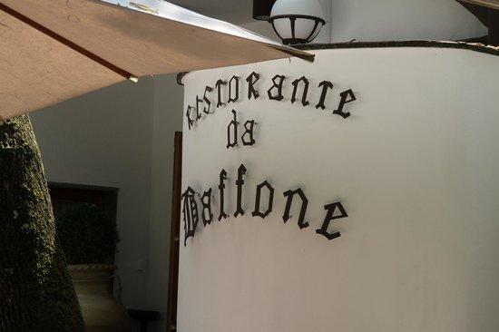 Ristorante da Baffone: Particolare dell'ingresso.