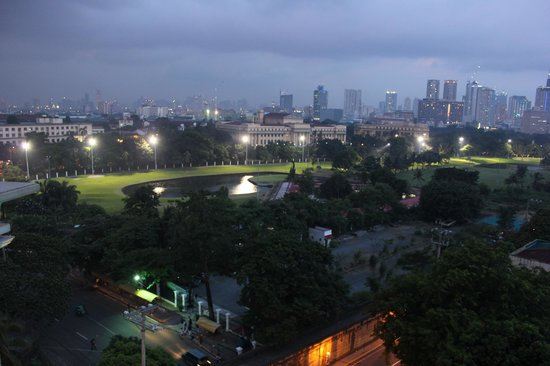 The Bayleaf Intramuros: Night view of city and golf course (3)