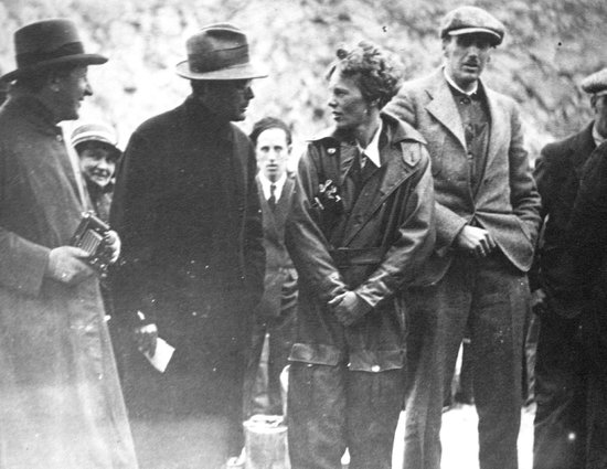 Conception Bay Museum: Original photograph of Amelia Earhart in Harbour Grace, 1931