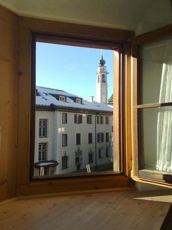 Hotel Donatz : Zimmeraussicht vom alten Gebäudeteil aus