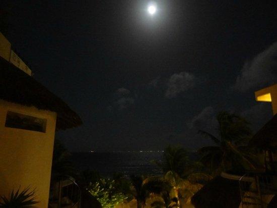 Playa Palms Beach Hotel: Full moon