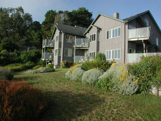 Turtle Rocks Inn: Oceanside side view of inn from edge of property