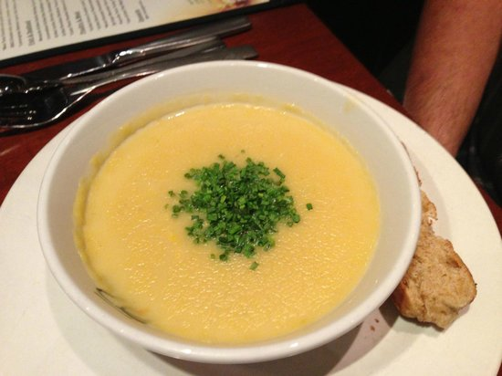 Seasons 52: Corn soup - it was to die for