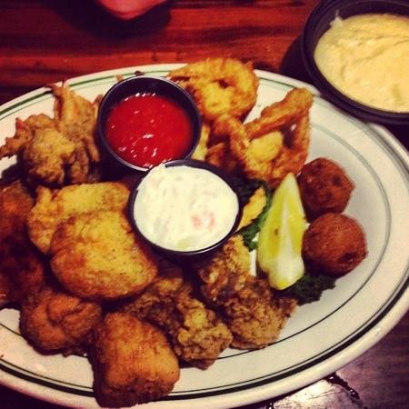 Original Oyster House: a platter of seafood enough for two!
