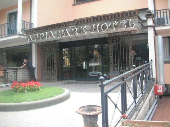 Appia Park Hotel front Entrance - July 2013