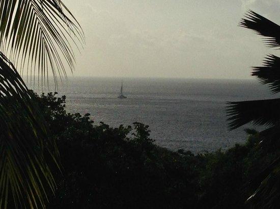 Residence Pointe Batterie: Vue de la terrasse en matinée