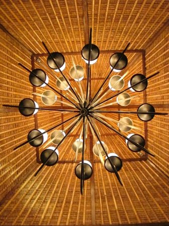La Rouge Restaurant & Bar: Photographic trick that I did with their light fitting